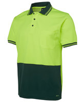 JB's Hi Vis S/S Cotton Back Polo