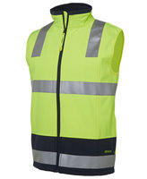 JB's Hi Vis 4602.1 (D+N) Layer Vest Lime/Navy XS