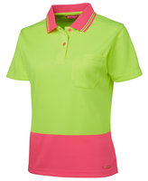 JB's Ladies Hi Vis S/S Comfort Polo