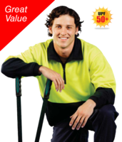 HI-VIZ POLY COTTON FLEECE JUMPER