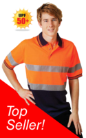 Day / Night Hi Vis Cooldry Polo Short Sleeve