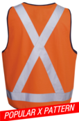 HI-VIS X PATTERN SAFETY DAY/NIGHT VEST