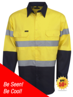 HI-VIS DAY/NIGHT COTTON DRILL LONG SLEEVE SHIRT