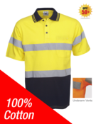 100% Cotton Day/Night Hi Vis Polo