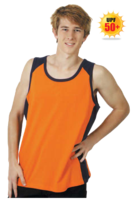 Hi Vis Cool Dry Action Singlet