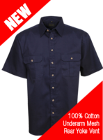 Cool Breeze Cotton Work Shirt S/S
