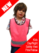 Kids Hi-Vis Day/Night Safety Vest
