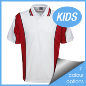 Kids Cooldry Contrast Polo