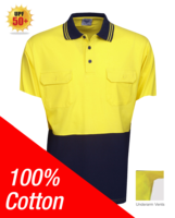 100% Cotton Hi Vis Polo Short Sleeve