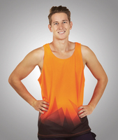 S85 Triangular Design Sublimation Printed Hi Vis Singlet