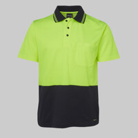 JB's HV Non Cuff S/S Cotton Back Polo