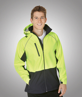 J96 Hooded Hi-Viz Soft Shell Jacket Day Use