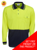HI-VIS COOL DRY LONG SLEEVE POLO SHIRT