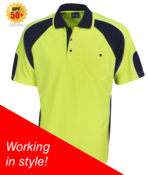 Hi Vis Cooldry Side Panel Polo