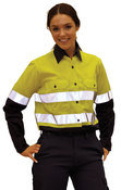 Female Day/Night Long Sleeve Safety Shirt