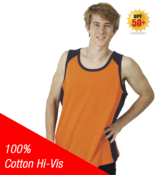 100% Cotton Hi-Vis Singlet
