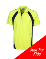 BB Hi-Vis Childs Coolfast Mini Waffle Polo