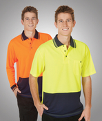 Hi-Viz Lightweight Cooldry Polo Short Sleeve