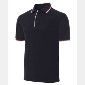 JB's Double Contrast Polo Black/Red/White S Thumbnail