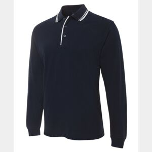 JB's L/S Contrast Polo Navy/White S Thumbnail