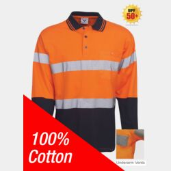 100% Cotton Day/Night Hi Vis Polo Long Sleeve Thumbnail