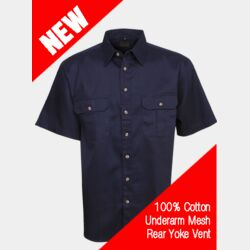 Cool Breeze Cotton Work Shirt S/S Thumbnail