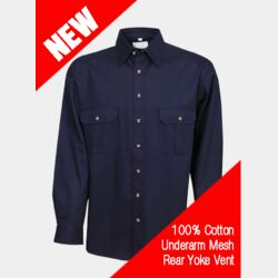 Cool Breeze Cotton Work Shirt L/S Thumbnail