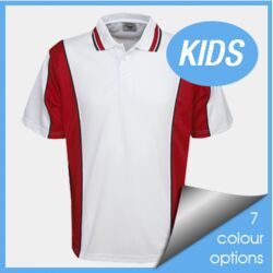 Kids Cooldry Contrast Polo Thumbnail