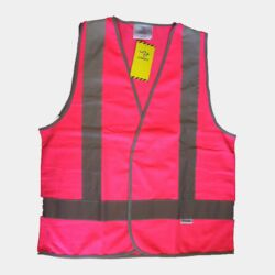 PINK HI-VIZ SAFETY DAY/NIGHT VEST Thumbnail