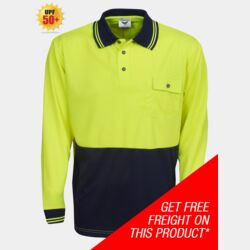 HI-VIS COOL DRY LONG SLEEVE POLO SHIRT Thumbnail