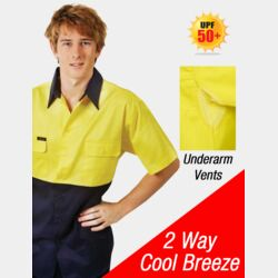 HI-VIS COTTON DRILL WORK SHIRT Thumbnail