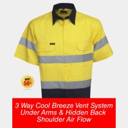 Hi Vis S/S Cotton Twill Shirts 3 Way Cool Breeze Thumbnail
