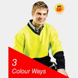 HI-VIZ FLEECY SWEAT V-NECK Thumbnail