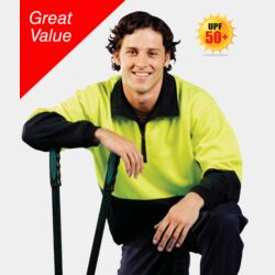 HI-VIZ POLY COTTON FLEECE JUMPER Thumbnail