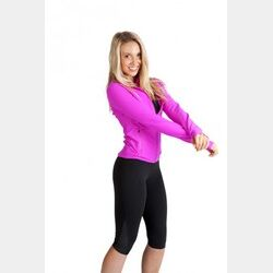 Ladies AVA Nylon/Spandex 3/4 Leggings Thumbnail