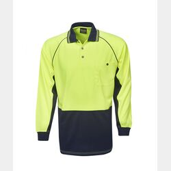 Hi-Viz Raglan Sleeve Cooldry Polo Long Sleeve Thumbnail