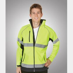 Hi-Viz Soft Shell Jacket Day/Night Use Thumbnail