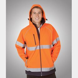 Hooded Hi-Viz Soft Shell Jackets Day/Night Use Thumbnail
