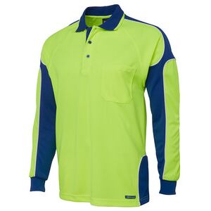 JB's Hi Vis L/S Arm Panel Polo Thumbnail