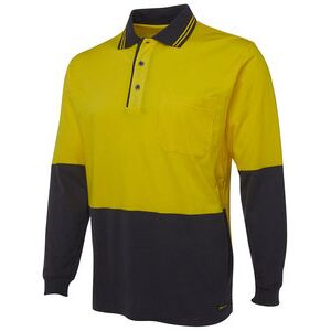 JB's Hi Vis L/S Cotton Polo Thumbnail