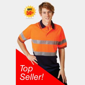 Day / Night Hi Vis Cooldry Polo Short Sleeve Thumbnail