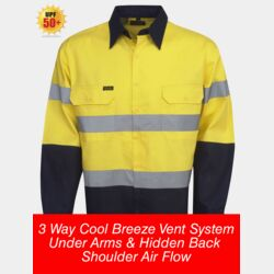 HI-VIZ 155 GSM Cotton Twill Shirt Long Sleeve Thumbnail