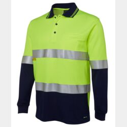 JB's Hi Vis L/S (D+N) Cotton Back Polo Thumbnail