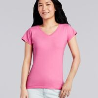 Gildan 64V00L Ladies V-Neck Tee Thumbnail