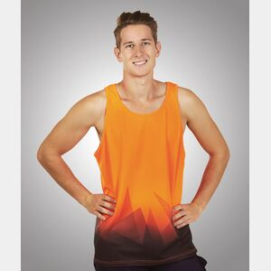 S85 Triangular Design Sublimation Printed Hi Vis Singlet Thumbnail
