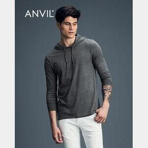 Adult Lightweight Long Sleeve Hooded Tee Thumbnail