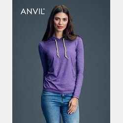 Women's Lightweight Long Sleeve Hooded Tee Thumbnail