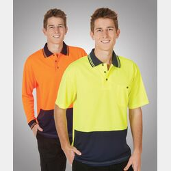 Hi-Viz Lightweight Cooldry Polo Long Sleeve FE Thumbnail