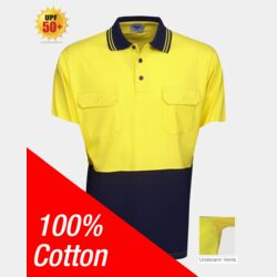 100% Cotton Hi Vis Polo Short Sleeve FE Thumbnail
