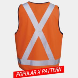 HI-VIS X PATTERN SAFETY DAY/NIGHT VEST Thumbnail